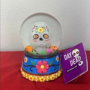 Day of The Dead Light Up Water globe SnowGlobe New